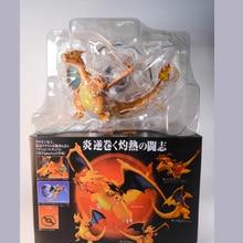 цена на Anime Pocket Monster GK Fire Charmander Dragon PVC Figure Figurine New In Box