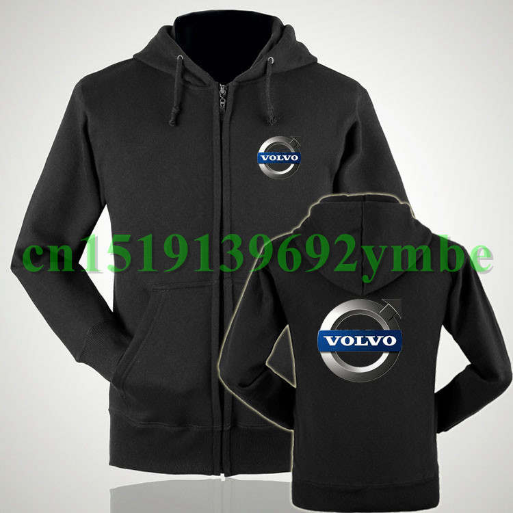 2 styles Women and men Volvo zipper sweatshirts customized ...