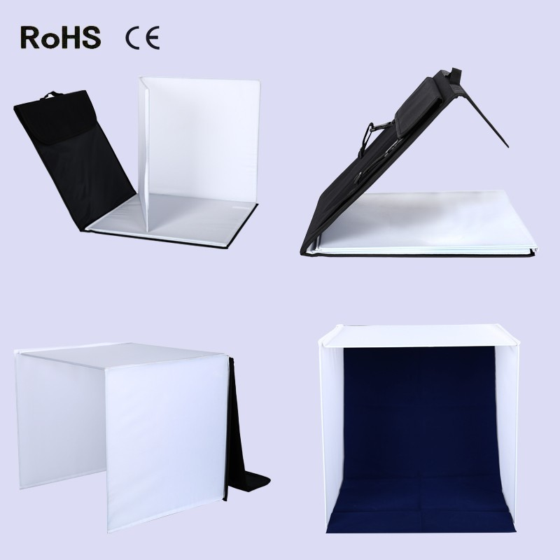 50cm*50cm Portable Shooting Light Tent Photo Studio Soft box Photography Square Light Sheds+One Tent+Four Backdrops+Carry Bag 32x32 inch 80cm x80 cm photo studio shooting tent light cube diffusion soft box kit with 4 colors backdrops for photography