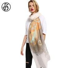 80112a5b463f FS Long Echarpe Foulard Femme Coton Châle Hijab Écharpe Foulards Tête Pour  Les Femmes Printemps Wrap