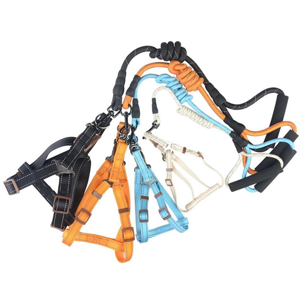 Florescent Light Style Pets Harness Safety At Night Fashion Leashes And Harnesses Sets Doggy Training Tools Puppy Dog Supply