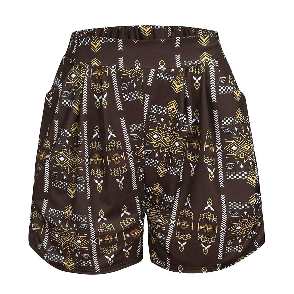 Shorts Spodenki Damskie Pantalones Cortos Mujer Pantalones Cortos Mujer Women's Printed High Waist Shorts джинсовые шорты Z4