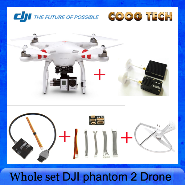 DJI phantom 2 with H3-3D Gimbal Quadcopter +DJI 5.8G Transmitter& Receiver + DJI IOSD Mini+ DJI Prop Guard Protector FPV Drone