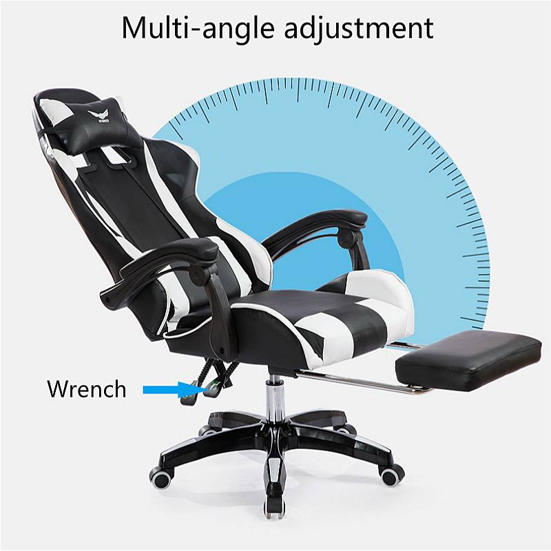Teal Computer Chair Brooklyn Bonded Leather Lounger And Ottoman Reclining Office With Footrest Lifted Rotated E Sports Gaming Household Multi Function Massage Aliexpress Com Imall