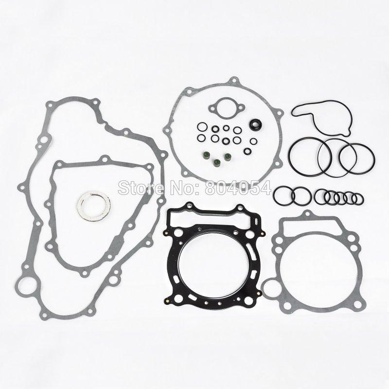 Motorcykelmotorpackningssats Set topp och botten komplett montering för Yamaha YFZ450 YFZ 450 2004 2005 2006 2007 2008 2009