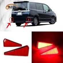 OKEEN 2 adet için LED Arka Tampon Reflektör Işık Toyota Noah 2015 Voxy 2015 Kuyruk Işık Fren Dur Açın Sinyal ışıkları Sis Lambas...