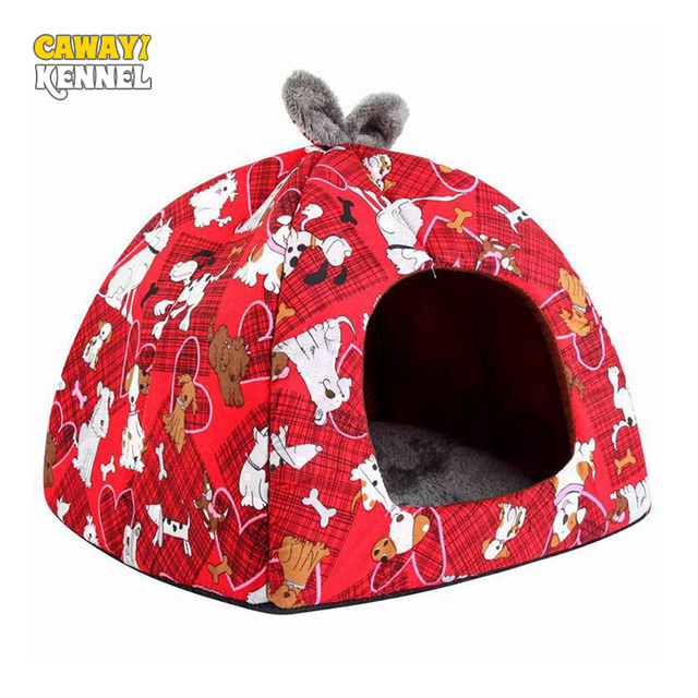CAWAYI KENNEL Soft Winter Dog House Summer Dog Bed Fashionable Puppy Pet Small Dog Sofa Cats Bed Dog Bed Nest Mat Kennel D1206