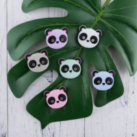 Presale Silicone Beads Cartoon Panda Shape Food Grade Silicone Beads Teething Necklace Tiny Rod Accessories Baby Teethers
