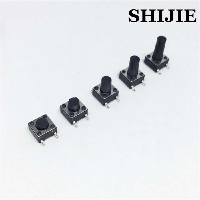 Computer & Office Diligent Smd 6*6*4.3/5/6/7-20mm Smt Surface Mount Type Tact Switch Microswitch 4 Foot Online Discount