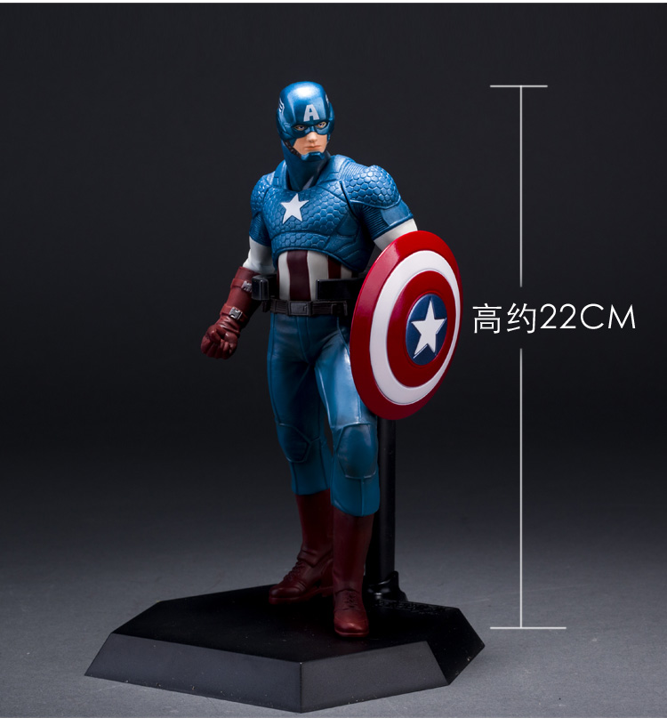 Crazy Toys The Avengers Captain America PVC Action Figure Collection Model Toy 19 22cm KT1933 3d eye minions cos the avengers superheroes iron man captain american pvc action figures kids collection model toys 12cm