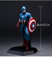 Crazy Toys The Avengers Captain America PVC Action Figure Collection Model Toy 19 22cm KT1933