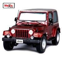Maisto 1:18 JEEP WRANGLER Sahara SUV Car Diecast Model Car Toy New In Box Free Shipping 31662