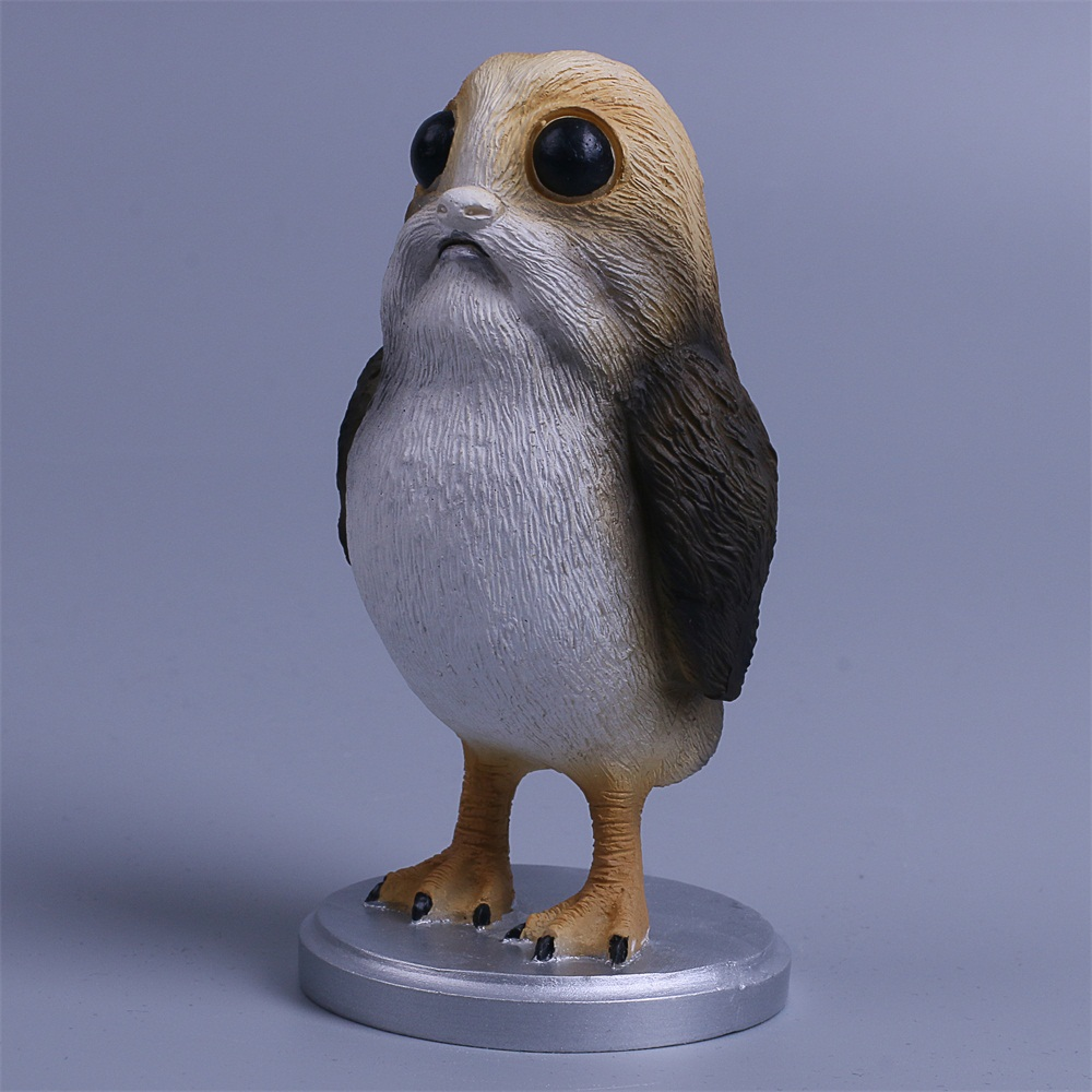 Star Wars The Last Jedi Porg Action Figure Cosplay Porg Toy Doll Christmas Gift Resin (5)