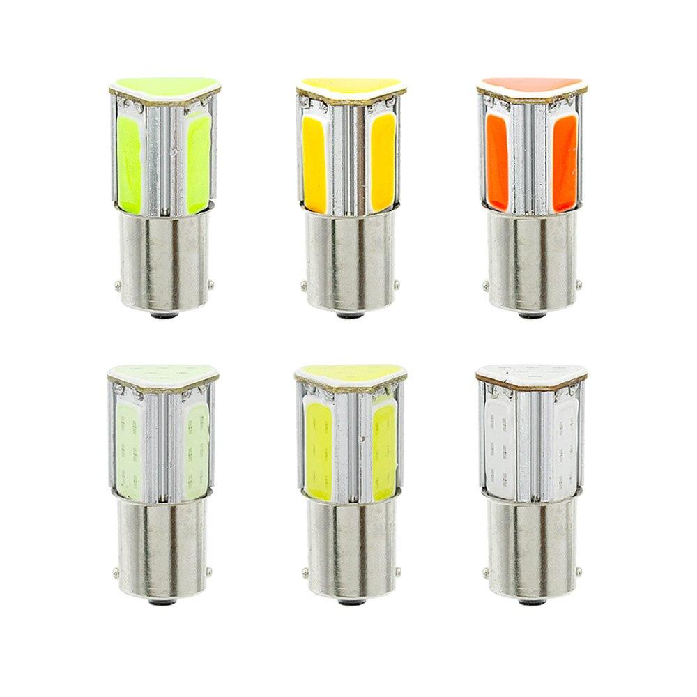 P21w Bay15d Ba15s P21 1156 1157 LED COB 12V Car Brake Light Bulbs Rear Turn Signal Backup Reverse Tail Parking Lamp