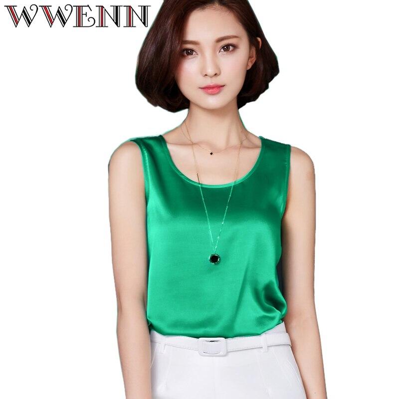 Camisas mujer vetement femme womens summer tops fashion 2017 silk tanks t shirt women shirt clothes