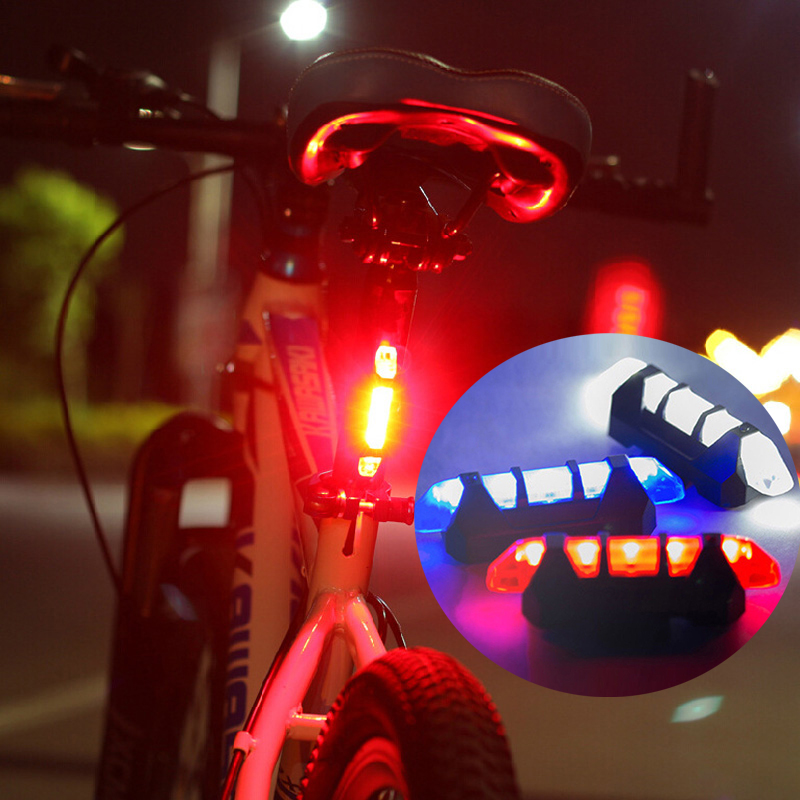 Bike Light USB Rechargeable <font><b>Bicycle</b></font> Light LED Taillight Rear Tail Safety Warning Cycling <font><b>Flashlight</b></font> <font><b>For</b></font> <font><b>Bicycle</b></font> Battery image
