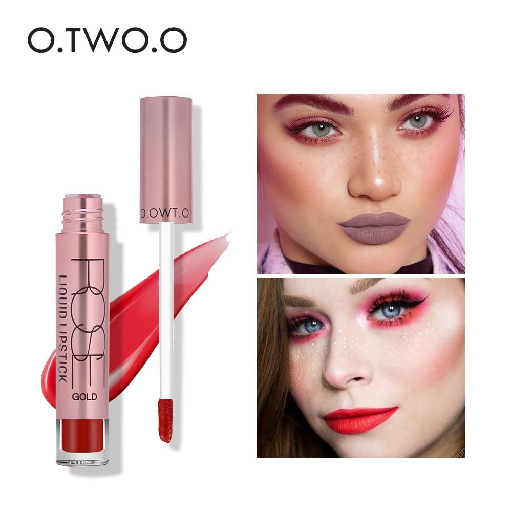 O.TWO.O Matte Liquid Lipstick 12 Colors Matte Lip Gloss Long Lasting Lips Makeup Water proof Lipstick Liquid Matte Lips