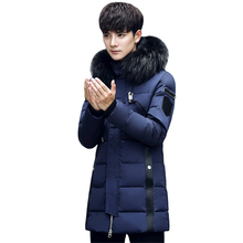 купить Brand New Winter Down Jacket Men Thicken Warm Long Parkas Casual Outwear Hooded Real Fur Collar Jackets Winter Coats Men Clothes дешево