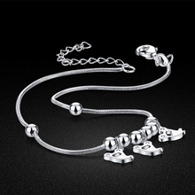 Korea jewelry;Korean version of the matte bead fine anklets;High quality;brand jewelry; Birthday gift;
