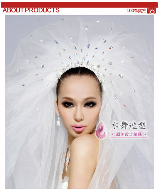 2015 Velos De Novia Three Meters Long Wedding Veils White more layers Tulle Bridal Wedding Veils With Comb Voile Mariage