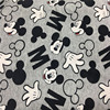 Classic Cartoon Gray Mickey Mouse Elastic Interlock Knitting Cotton F For Sewing Diy Patchwork Baby Boy