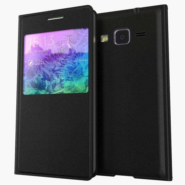 View Window Case For Samsung Galaxy Core Prime LTE G360F G360H G360 G3606 G3608 G3609 Flip Leather Back Battey Housing Cover
