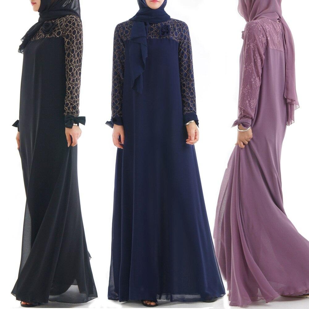 Abaya Dubai caftan femmes moulante dentelle mousseline de soie couture jupe Maxi Hijab robe musulmane turc islamique prière vêtements
