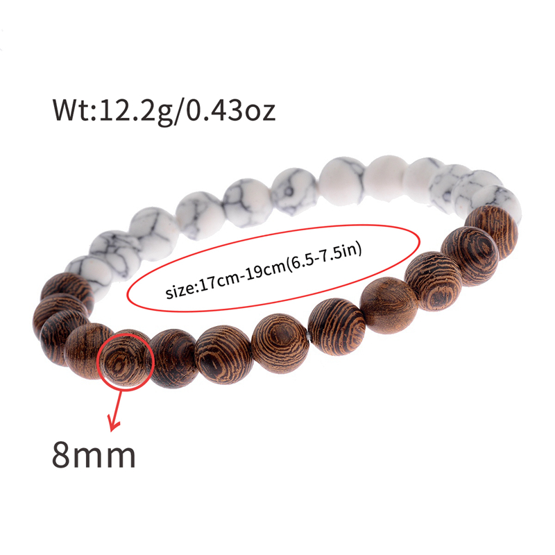 8mm New Natural Wood Beads Bracelets Men Black Ethinc Meditation White Bracelet Women Prayer Jewelry Yoga Bracelet Homme HTB1kOnTbDTI8KJjSsphq6AFppXaK