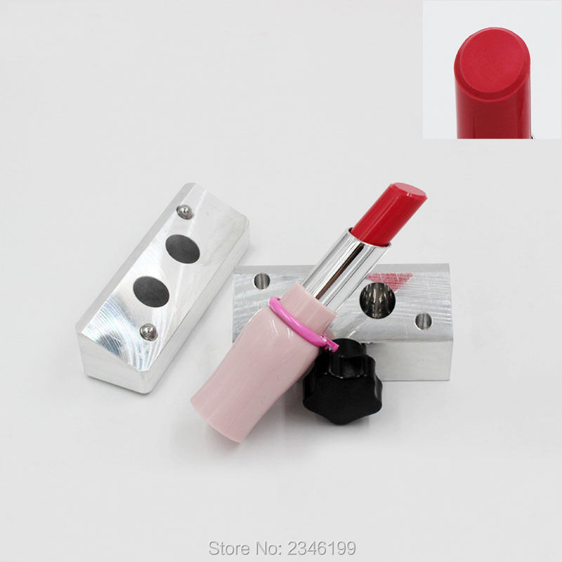 1Set/Piece New Arrival Aluminum Lipstick Mold, 11.1mm 2Holes/6Cavaties/12Holes Lipstick Machine, Top Grade Quality Lipstick Mold low noise terminal crimping machine 1 5t with vertical mold or horizontal mold or single grain mold