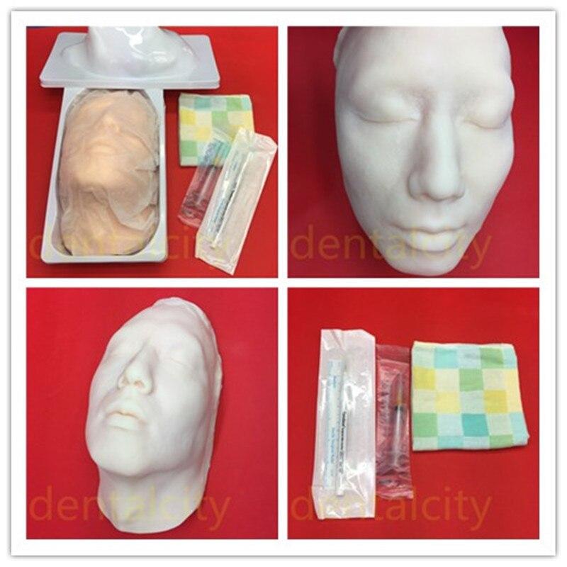 Nouveau modèle d'enseignement de l'injection faciale de tête de Silicone de Kit chirurgical de beauté pour la Suture en plastique de Suture de peau
