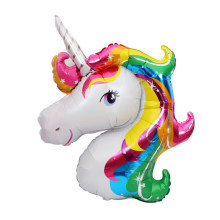 New Arrival Popular Large Aluminum Unicorn Balloon Party Toys Children's Birthday Wedding Party Decoration Supplies 110x80cm(China)