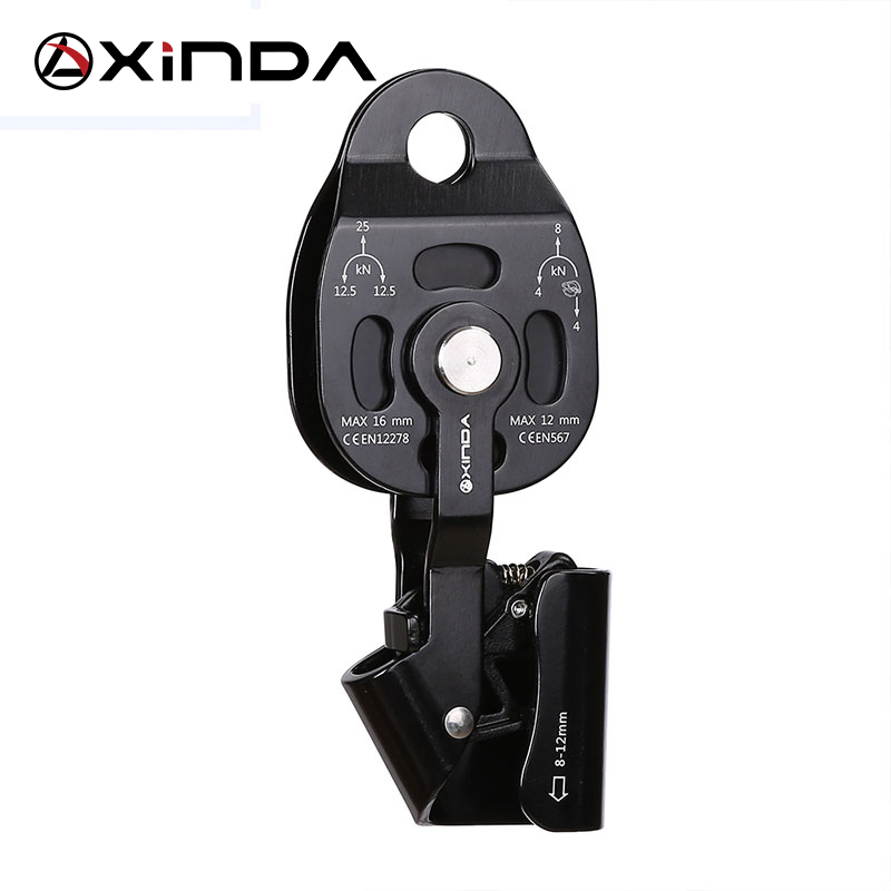 Top Quality XINDA Professional Lift Weight Pulley Device Rescue Survive Gear outdoor rock climb high altitude xinda professional half body safety belt harnesses for rock climbing outdoor expand training aerial protective supplies