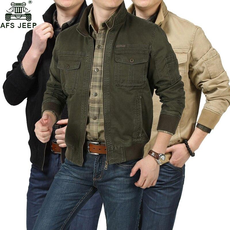 AFS JEEP Automne Militaire Veste Hommes Grande Taille 3XL Jaqueta masculina Bombardier Vestes Coupe-Vent veste homme Casual Vestes Manteaux