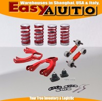 Front Camber Kits + Rear Lower Control Arms+Lower Coilcocver Spring (Fits For Honda Civic EG ) PT FCACASP 01EG