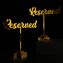 Reserved Sign. Wedding Freestanding Table Acrylic decor table