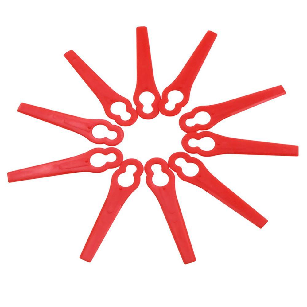 10Pcs/set Lawn Mower Plastic Blade Grass Strimmer Trimmer Blade Blades Tool