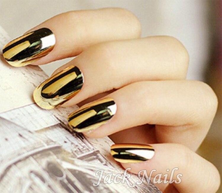 Hot 1pcs Smooth Gold Silver Black Nail Art Beauty Sticker Patch ...