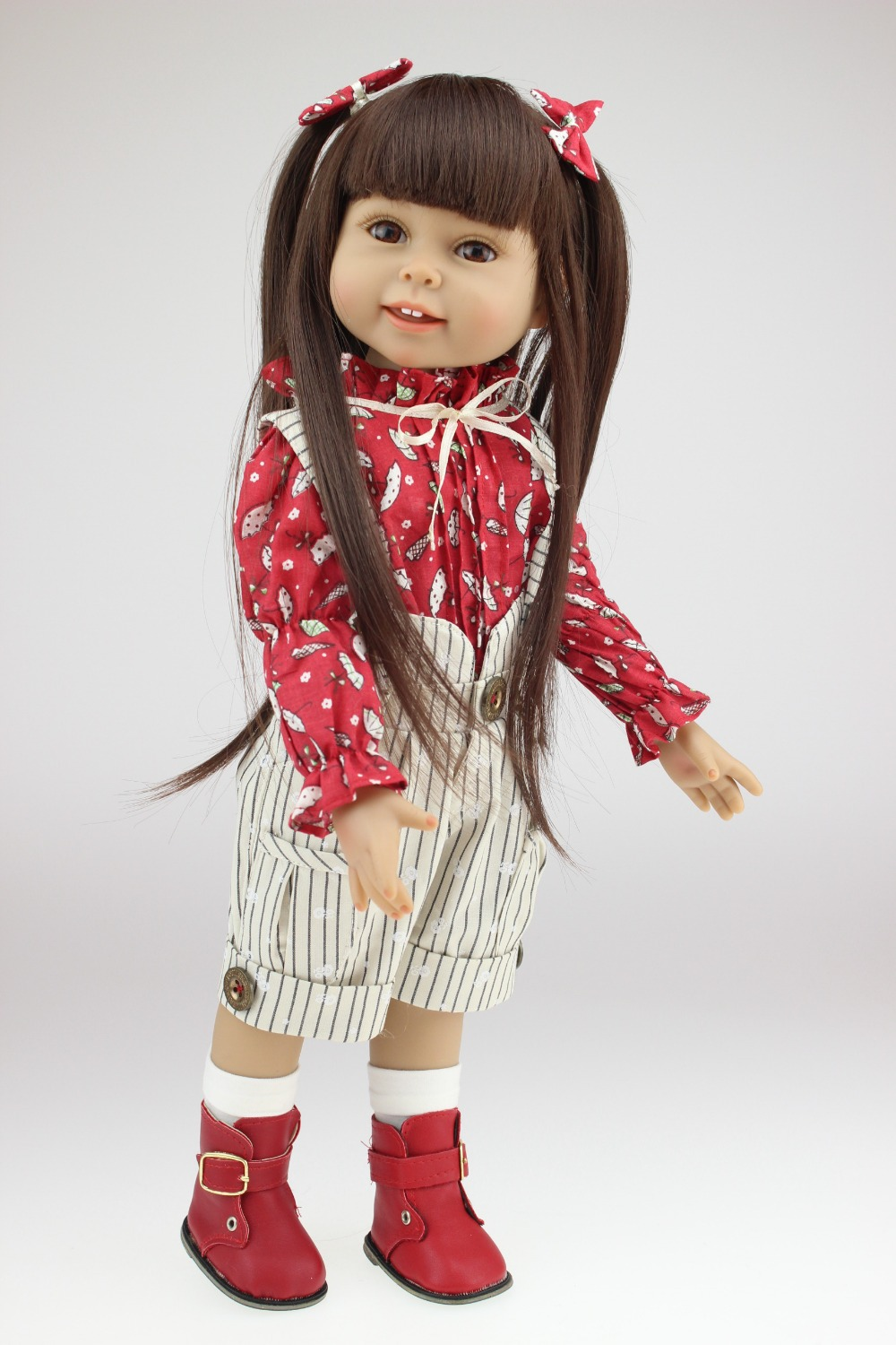 "New 18 ""Girl Doll Soft Real Looking Baby Doll Toys Similar"