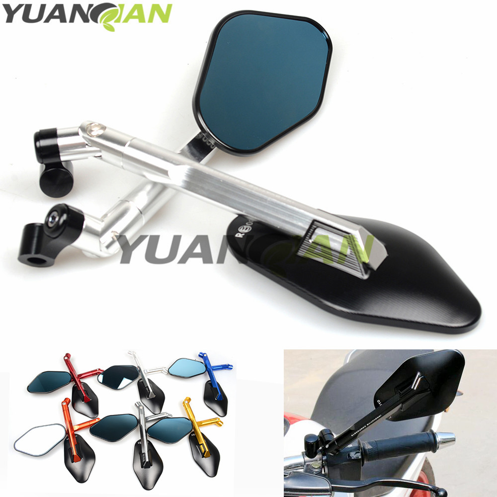 Universal Rearview Mirrors For Yamaha MT 07 MT 09 MT 07 09 FZ 07 FZ1 FZ6 FZ8 CNC Aluminum Mirror Motorcycle Scooter Accessories