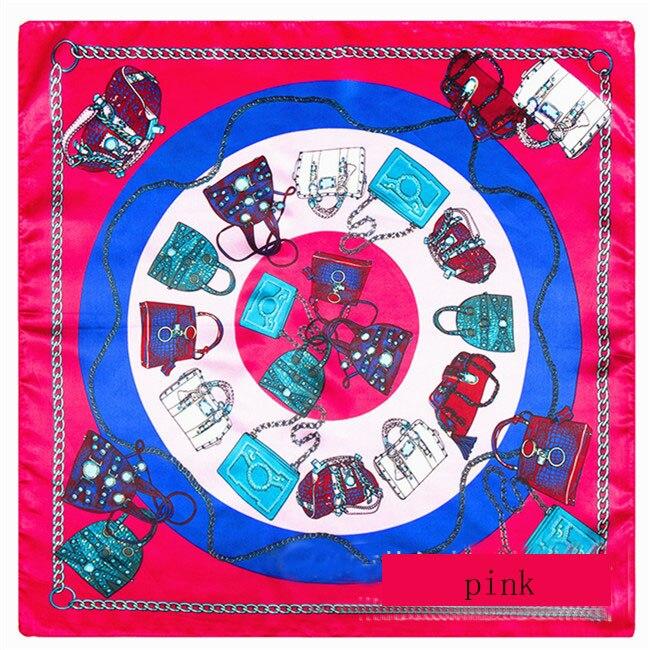 Free shipping 60cm * 60cm silk suqare   scarf   chain gem pattern ladies   scarves     wraps   shawl hijab