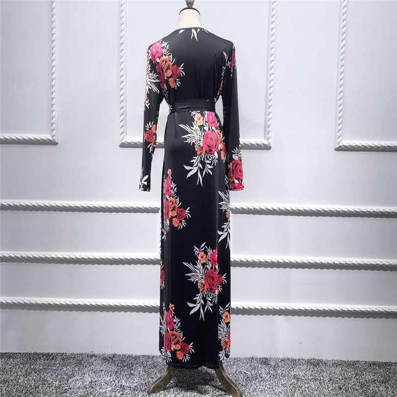 Abayas לנשים מוסלמי חיג 'אב שמלת Jilbab העבאיה קפטן Robe קפטן דובאי הרמדאן קטאר איחוד האמירויות עומאן תורכי Elbise בגדים אסלאמיים