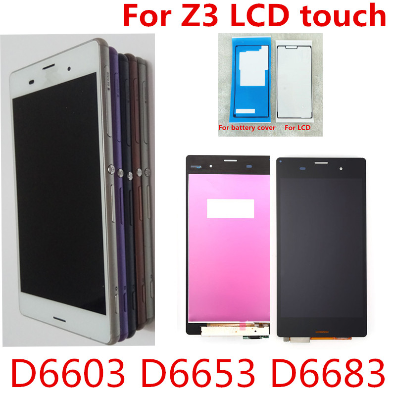 5.2 LCD For SONY Xperia Z3 Display Touch Screen D6603 D6616 D6653 D6683 Replacement for Dual D6633