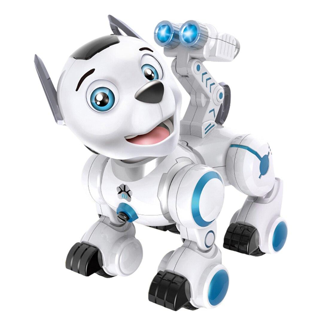 Enfants Tôt Éducation Pet Chien Intelligent RC Robot Intelligent Patrouille Jouet Pour Chien avec Danse Clin D'oeil pour Enfant Cadeau D'anniversaire