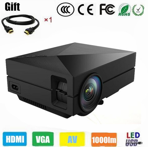 Best 2015 newest portable mini hd led projector home for Best mini projector 2015
