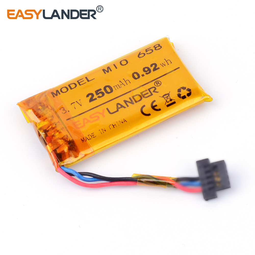 3.7V 250mAh Rechargeable li Polymer battery For DVR MIO mivue 658 668 688 772 MIO mivue 368A 528 536 408A Driving recorder видеорегистратор mio mivue 518