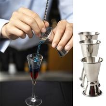 3PCS/set Stainless Steel Bar Jigger Cocktail Drink Mixer Measuring Cup Jigger Measurer Set