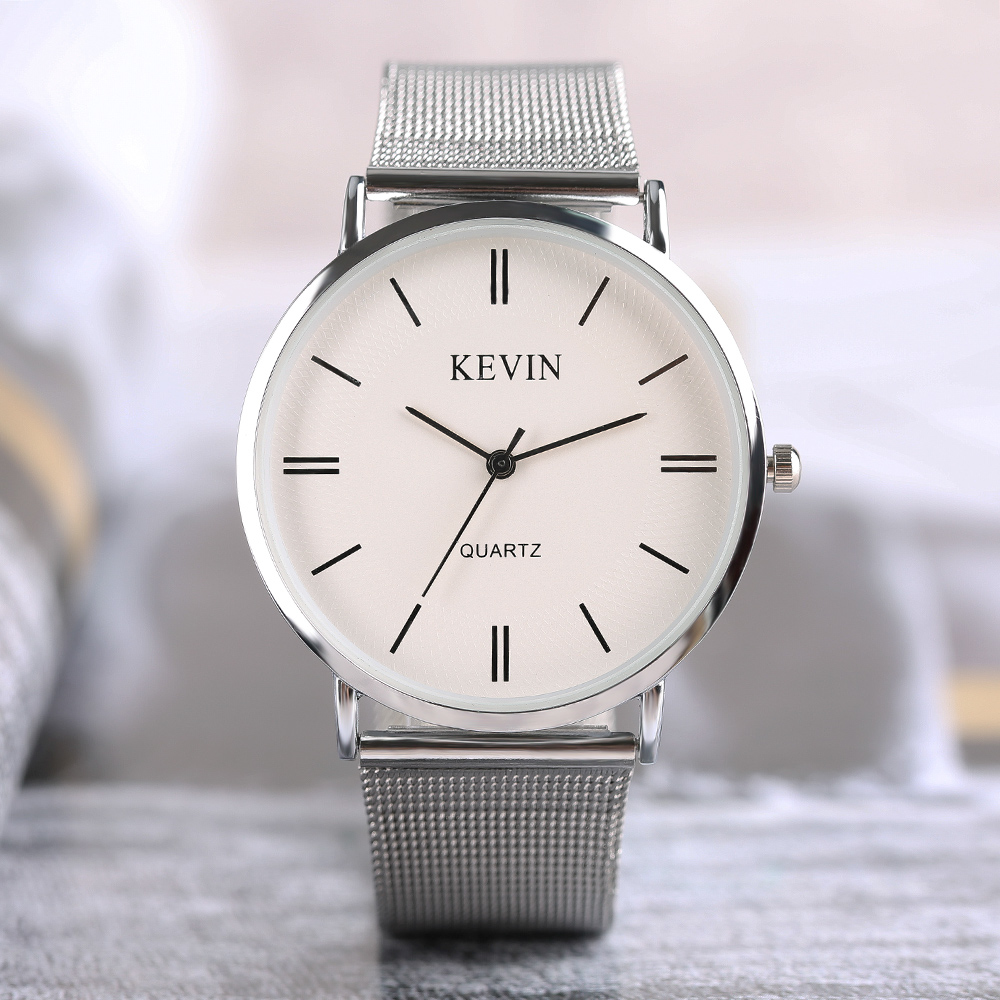 KEVIN Mens Women Quartz Watch Modern Simple Fashion Sport Dress Ladies Quartz Wrist Watch 2017 New Arrival Relogio new arrival turntable simple wrist watch women trendy quartz watch casual special design sport round dial hour student relogio