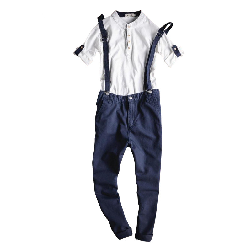 New Fashion Mens Blue Denim Overalls Male Casual Summer Jeans Detachable Cargo Trousers Bib Pants Jumpsuits For Man Ankle Length