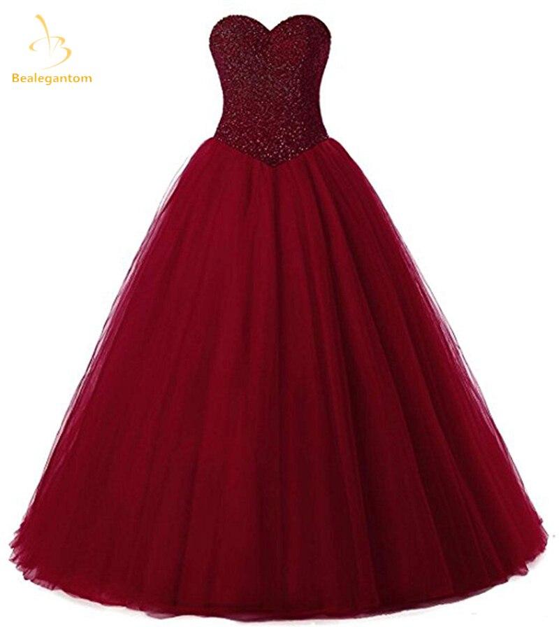 RüCksichtsvoll Bealegantom 2018 Neue Wein Rot Ballkleid Quinceanera Kleider Perlen Lace Up Debütantin Süße 16 Kleid Vestidos De 15 Anos Qa1546 Einfach Zu Schmieren Quinceanera-kleider