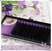 1 Tray 0 07 C D Curl Professional Mink Eyelash Extension 3D Korea Silk Volume Makeup
